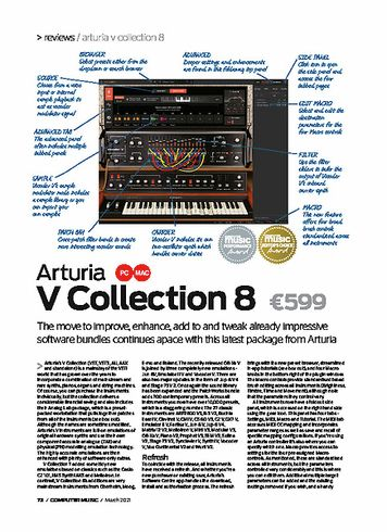 Computer Music Arturia V Collection 8