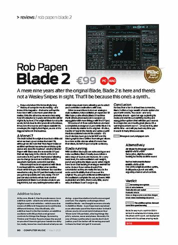 Computer Music Rob Papen Blade 2