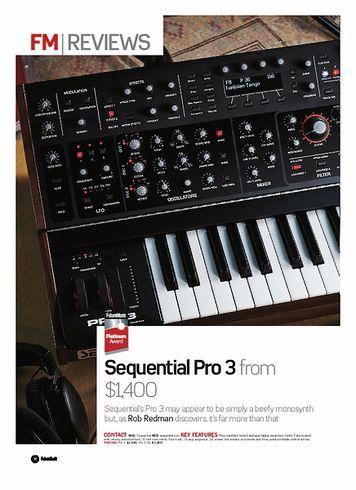 Future Music Sequential Pro 3