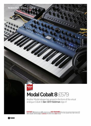 Future Music Modal Electronics Cobalt 8