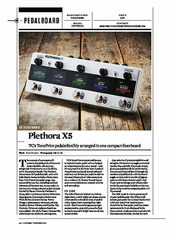 Guitarist TC ELECTRONIC PLETHORA X5