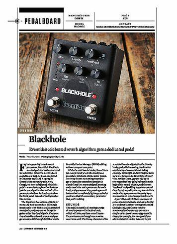 Guitarist EVENTIDE BLACKHOLE