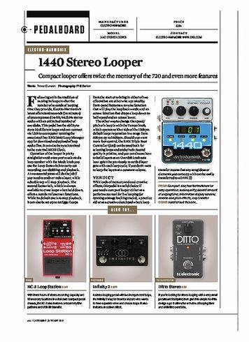 Guitarist ELECTRO-HARMONIX 1440 STEREO LOOPER