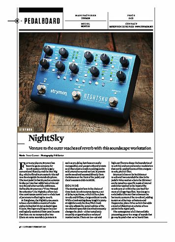 Guitarist STRYMON NIGHTSKY