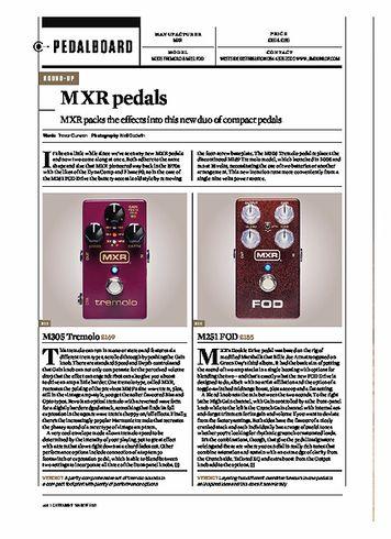 Guitarist MXR M305 TREMOLO