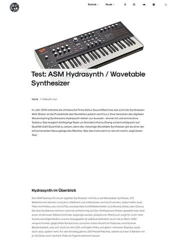 DJLAB ASM Hydrasynth / Wavetable Synthesizer