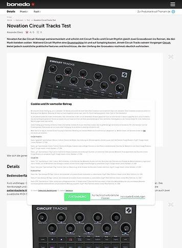 Bonedo.de Novation Circuit Tracks