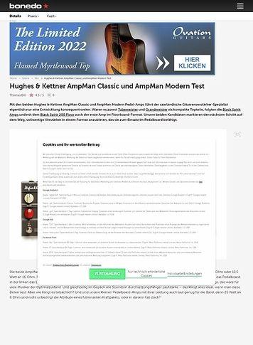 Bonedo.de Hughes & Kettner AmpMan Classic und AmpMan Modern