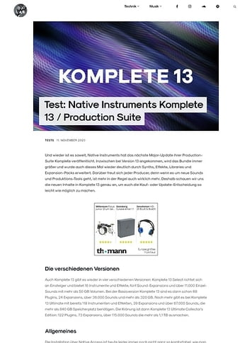 DJLAB Native Instruments Komplete 13 / Production Suite