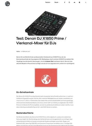 DJLAB Denon DJ X1850 Prime