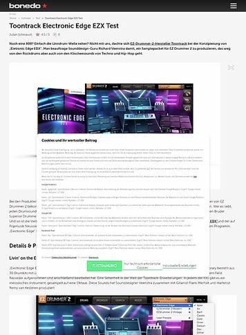 Bonedo.de Toontrack Electronic Edge EZX