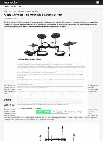 Bonedo.de Alesis Crimson II SE Mesh Kit