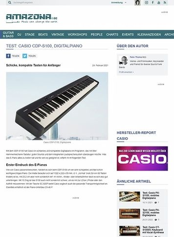 Amazona.de Casio CDP-S100