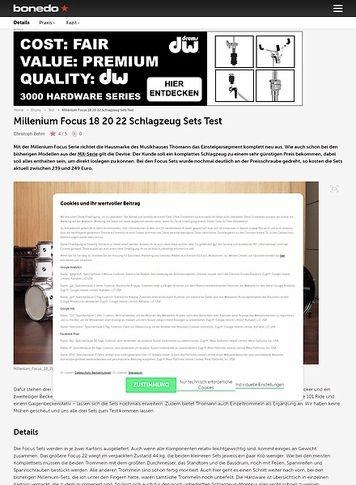 Bonedo.de Millenium Focus 18 20 22