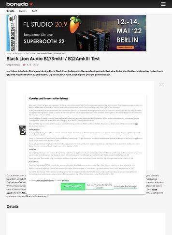 Bonedo.de Black Lion Audio B173mkII / B12AmkIII