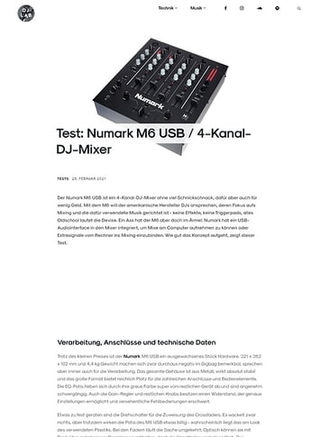 DJLAB Numark M6 USB