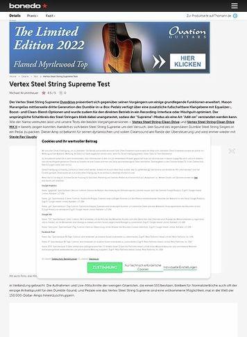 Bonedo.de Vertex Steel String Supreme