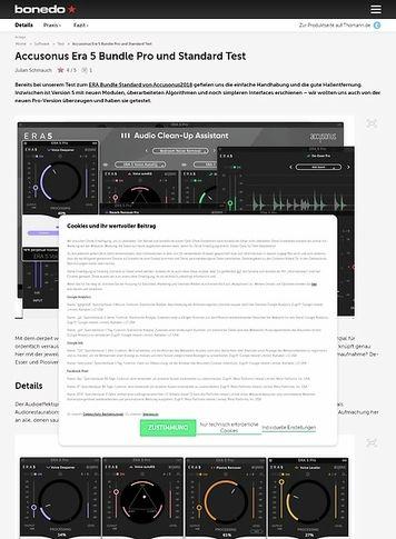 Bonedo.de Accusonus Era 5 Bundle Pro und Standard