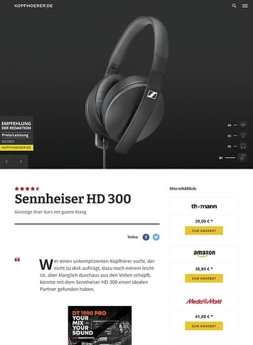 Kopfhoerer.de Sennheiser HD 300