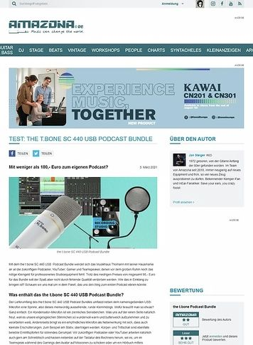 Amazona.de the t.bone SC 440 USB Podcast Bundle
