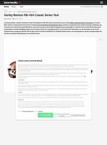 Bonedo.de Harley Benton RB-414 Classic Series