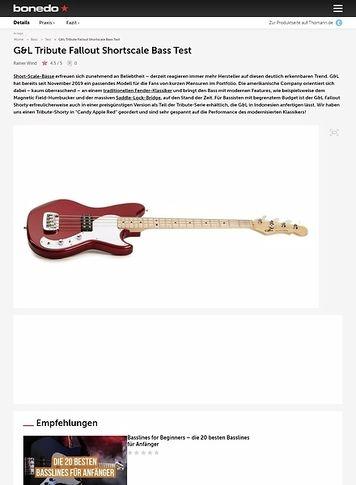 Bonedo.de G&L Tribute Fallout Shortscale Bass