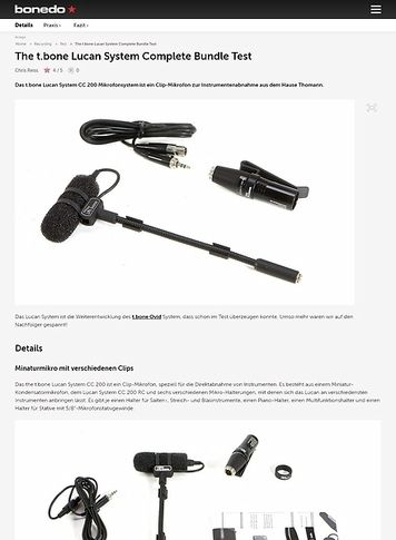Bonedo.de The t.bone Lucan System Complete Bundle