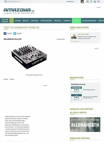 Amazona.de Allen & Heath Xone 92