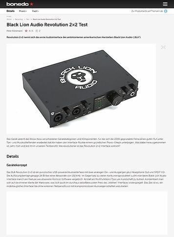 Bonedo.de Black Lion Audio Revolution 2x2