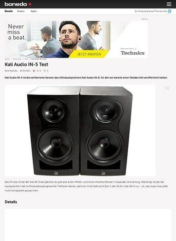 Bonedo.de Kali Audio IN-5