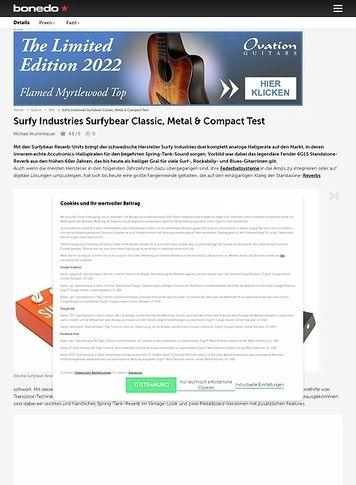 Bonedo.de Surfy Industries Surfybear Classic, Metal & Compact