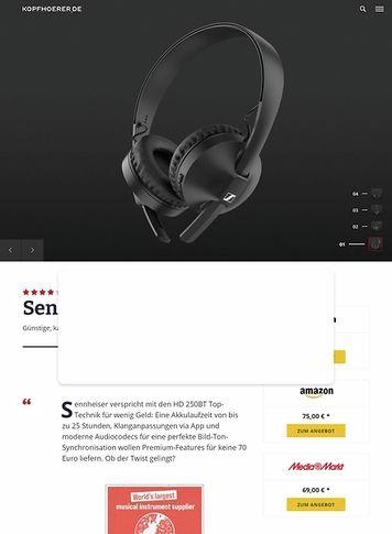Kopfhoerer.de Sennheiser HD 250BT