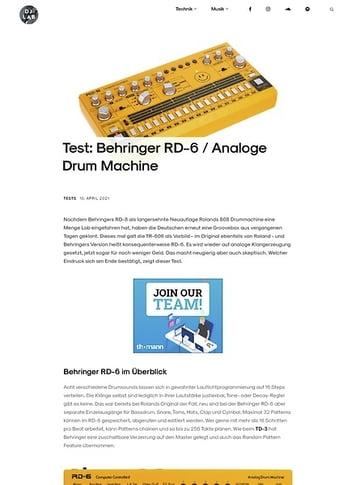 DJLAB Behringer RD-6
