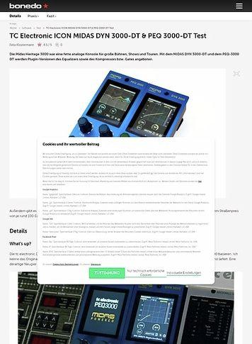 Bonedo.de TC Electronic ICON MIDAS DYN 3000-DT & PEQ 3000-DT
