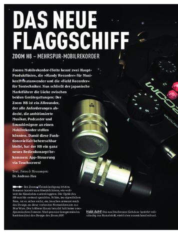 Sound & Recording Zoom H8 – Mehrspur-Mobilrekorder
