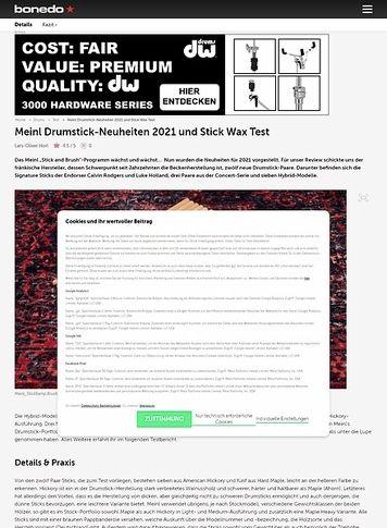 Bonedo.de Meinl Drumstick-Neuheiten 2021 und Stick Wax