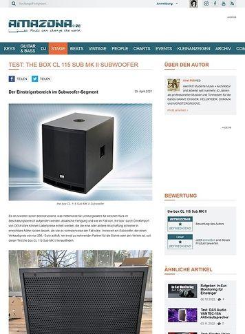 Amazona.de the box CL 115 Sub MK II