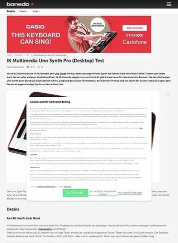 Bonedo.de IK Multimedia Uno Synth Pro (Desktop)