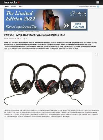 Bonedo.de Vox VGH Amp-Kopfhörer AC30/Rock/Bass