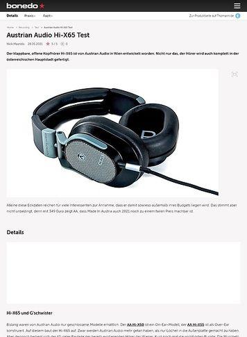 Bonedo.de Austrian Audio Hi-X65