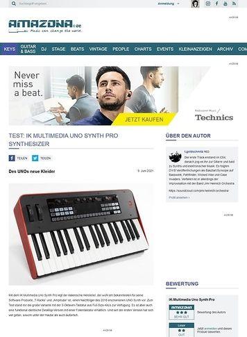 Amazona.de IK Multimedia Uno Synth Pro Synthesizer
