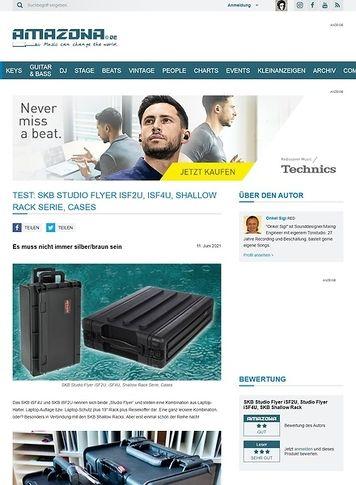 Amazona.de SKB Studio Flyer iSF2U, iSF4U, Shallow Rack Serie, Cases