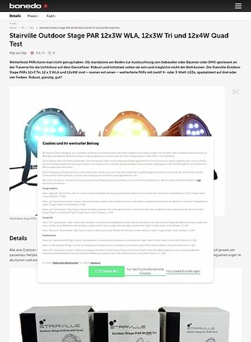 Bonedo.de Stairville Outdoor Stage PAR 12x3W WLA, 12x3W Tri und 12x4W Quad
