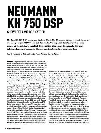 Sound & Recording Neumann KH 750 DSP