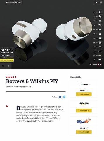 Kopfhoerer.de Bowers & Wilkins PI 7 WH