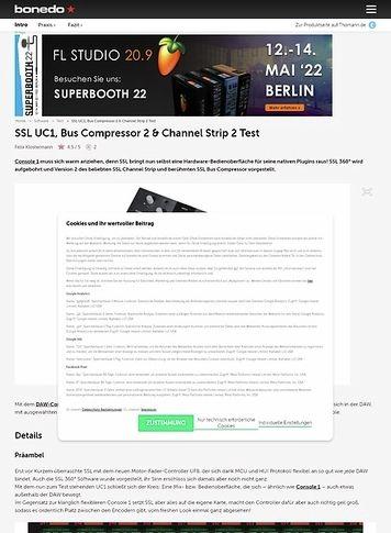 Bonedo.de SSL UC1, Bus Compressor 2 & Channel Strip 2