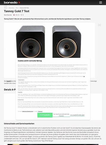 Bonedo.de Tannoy Gold 7