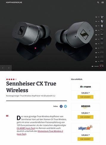 Kopfhoerer.de Sennheiser CX True Wireless Black