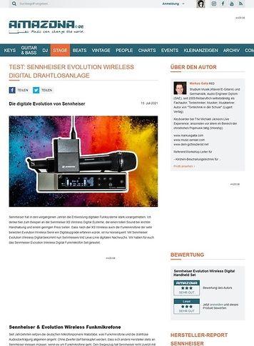 Amazona.de Sennheiser Evolution Wireless Digital Drahtlosanlage