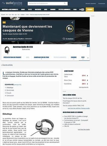 Audiofanzine.com Austrian Audio Hi-X55